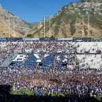 BYU field storming over USC
